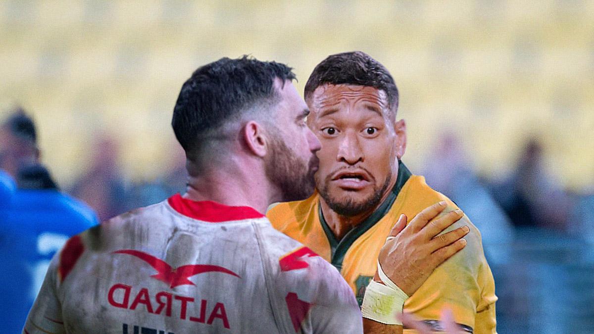 Folau quits French club after teammates keep kissing him on the cheek